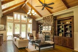 vaulted ceiling house plans lodge style living room with with vaulted wood beam ceiling house