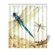 Dragonfly Shower Curtains Dragonfly Shower Curtains Kritters In The Mailbox Animal Gifts