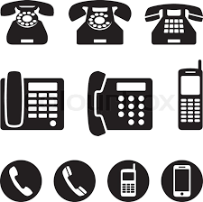 phone icon phone icons vector illustration stock vector colourbox