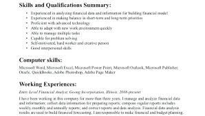 financial planning and analysis resume examples sample finance resume entry level x entry level financial data