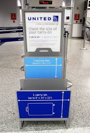 united charging for carry on bags will united s bag sizing policy work pearls of travel wisdom