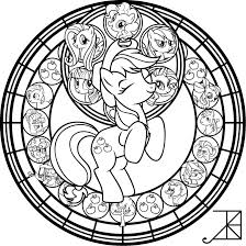 sg applejack remastered coloring page by akili amethyst on