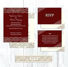 wedding invitations burgundy burgundy and ivory wedding invitations inovamarketing co