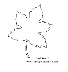 printable large flower leavestemplate leaf stencil not a