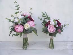 silk flowers for weddings wedding flowers bridal bouquet bridesmaid bouquet artificial silk