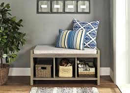 small modern entryway shoe storage design combined with bench seat