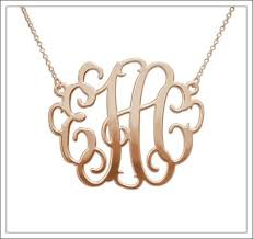 monogram necklace gold gold monogram necklace