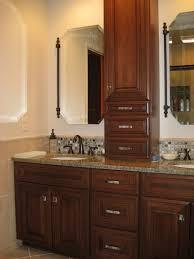 Home Depot Linen Cabinet Delightful Amazing Bathroom Vanity With Linen Cabinet Interior