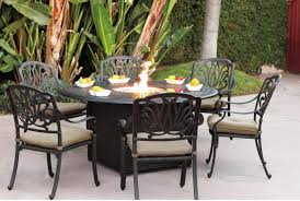 patio furniture with fire pit table round home design ideas