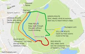 Map My Walk Route Arthur U0027s Seat Climb An Extinct Volcano In Edinburgh Earth Trekkers