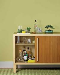 Built In Drinks Cabinet How To Set Up And Stock A Home Bar Martha Stewart