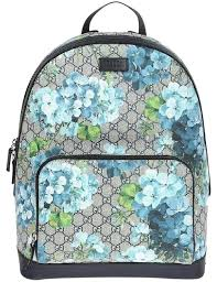 gucci blooms blue backpack tradesy
