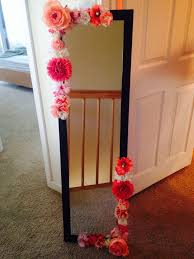 another diy flower mirror projects to try pinterest