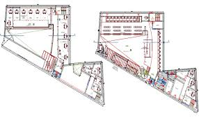 administration office floor plan and first floor plan layout plan of administration office dwg file