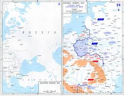 Blank Eastern Europe Map by Maps Of The Great War