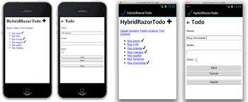 building html views using razor templates xamarin