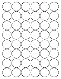1 Inch Circle Template by Label Templates Ol3012 1 25 Circle Labels Pdf