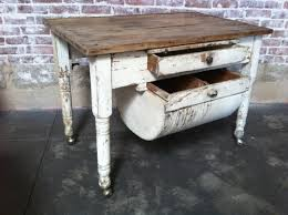 Antique Kitchen Cabinet With Flour Bin A Fabulous Rustic Table With A Flour Bin Drawer And Pull Out