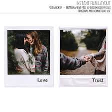 sale polaroid frame front and back template classic instant film