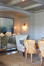 arched nook with mirrored buffet cabinet transitional dining room