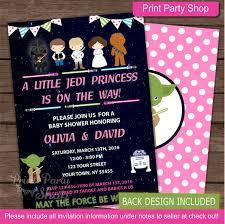 Star Wars Baby Shower Invitations - star wars baby shower invitation baby by printpartyshop