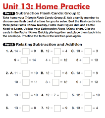 math facts math trailblazers - Standard One Maths