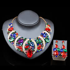 african necklace earrings images Parure bijoux femme nigerian wedding beads african jewelry gold jpg
