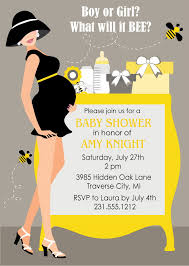 bumble bee baby shower invitations gender neutral shower digital