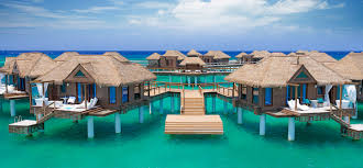 Tiki Hut On Water Vacation Over The Water Suites In The Caribbean Sandals