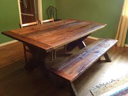 reclaimed barn wood table reclaimed barnwood dining table cross leg traditional dining