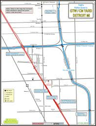 Owosso Mi Map Gt Cn Yard Detroit Railfan Guide