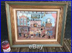 schroeder original folk painting titled thanksgiving with