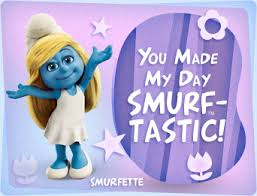 thank you e card smurfs thank you ecard