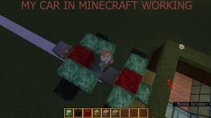 minecraft working car how to make a working car in minecraft tamil youtube