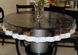 home design impressive transparent dining table covers 716i