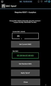 android mac spoof mac address of your android phone