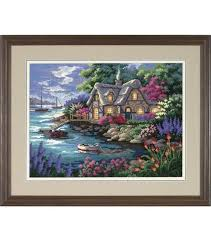 dimensions needlepoint kit cottage cove joann