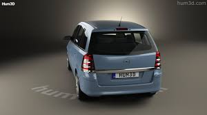 opel silver 360 view of opel zafira b 2009 3d model hum3d store