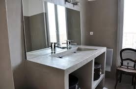banc beton cire meuble salle de bain beton cellulaire meilleures images d