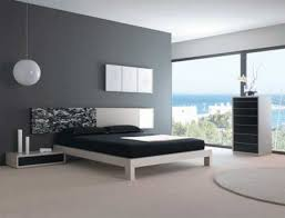 what color bedding goes with grey walls modern bedroom of black