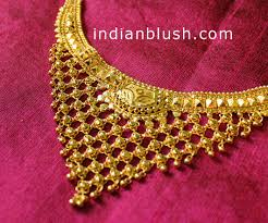 indian blush traditional bengali gold necklace designs with price