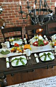 thanksgiving themed thanksgiving harvest tablescape redhead can decorate