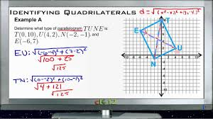 Coordinate Geometry Worksheets Classifying Quadrilaterals In The Coordinate Plane Examples