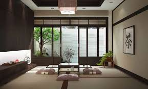 dining room futuristic japanese dining room design with cushion