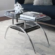 The Home Decor Company by Walker Edison Furniture Company Glass Storage Coffee Table C42bm