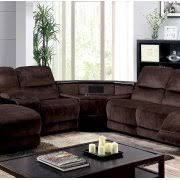 recliner sectional sofa wedge table push back chaise console brown
