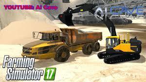 volvo dump truck volvo ec300e excavator u0026 a40 truck mods ls17 farming simulator