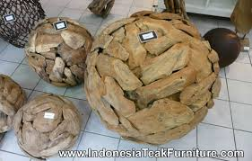wooden balls large wood home accents table accessories java bali indonesia