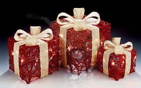 christmas present light boxes set of 3 led battery powered light up christmas present boxes with