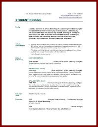 free sample of curriculum vitae resume format college student internship free templates for